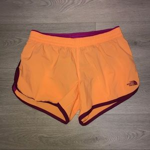 The North Face Orange Lined Athletic Shorts M